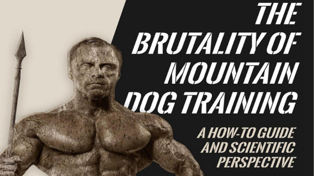 E-Book: Brutality of Mountain Dog Training - Mountain Dog Diet