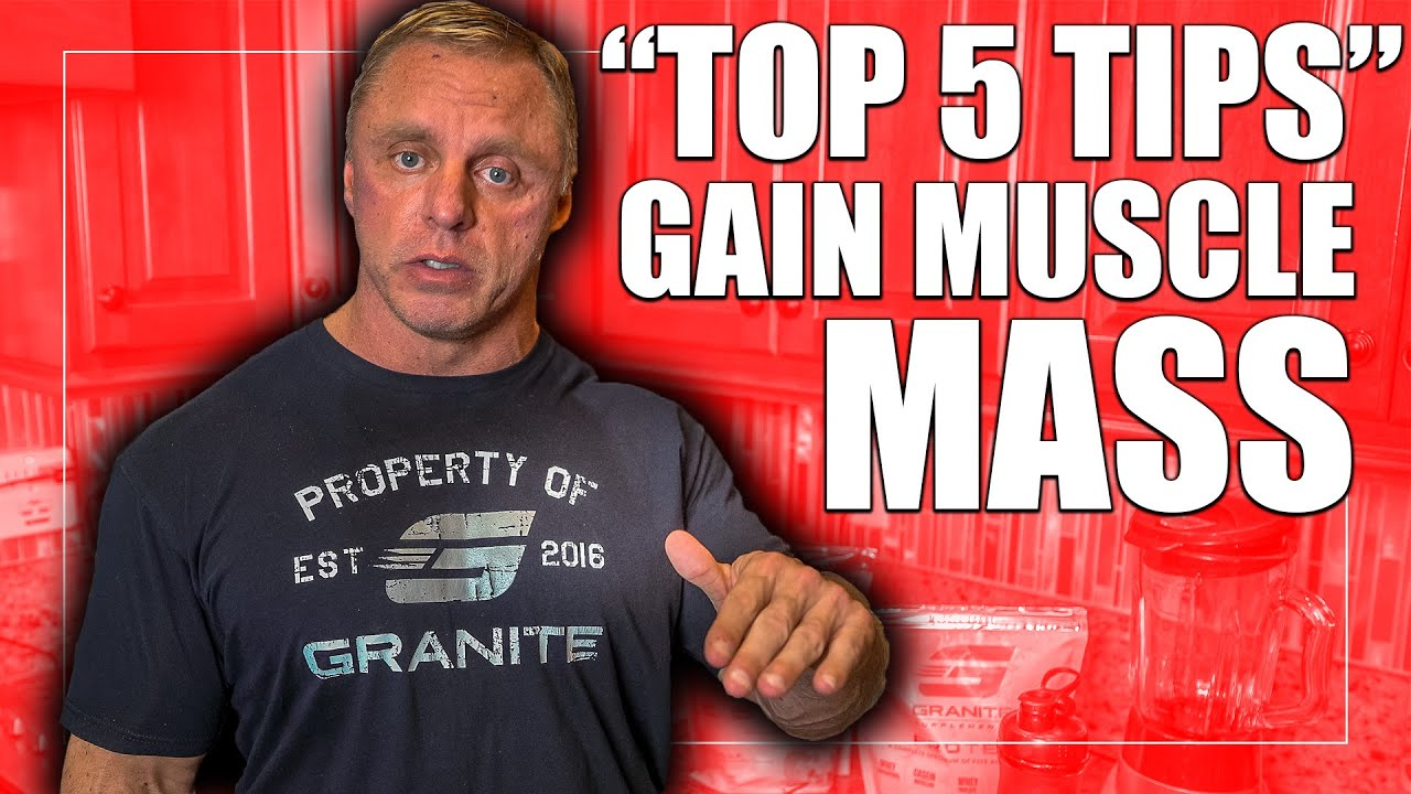 """""""5"""" Tips to Gain Muscle Mass as a Natural"""