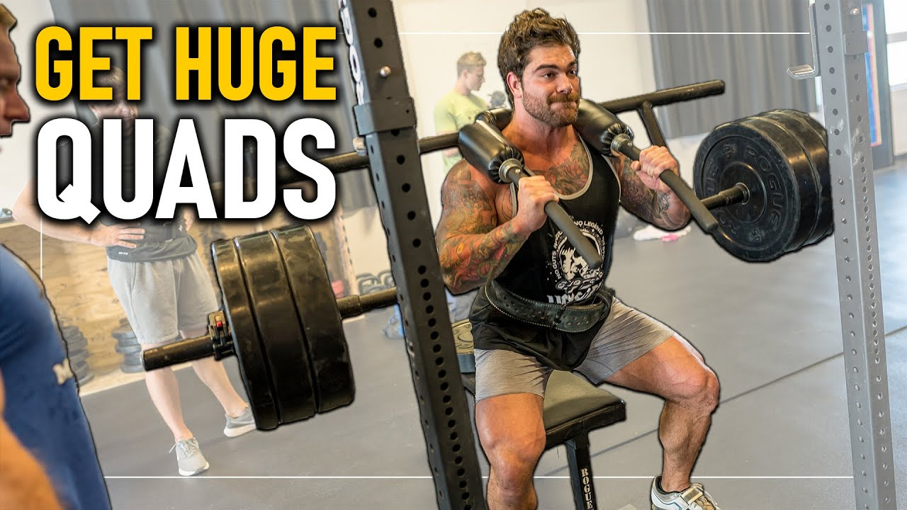 """Measly """"4"""" Exercise Leg Workout for Massive Quads"""