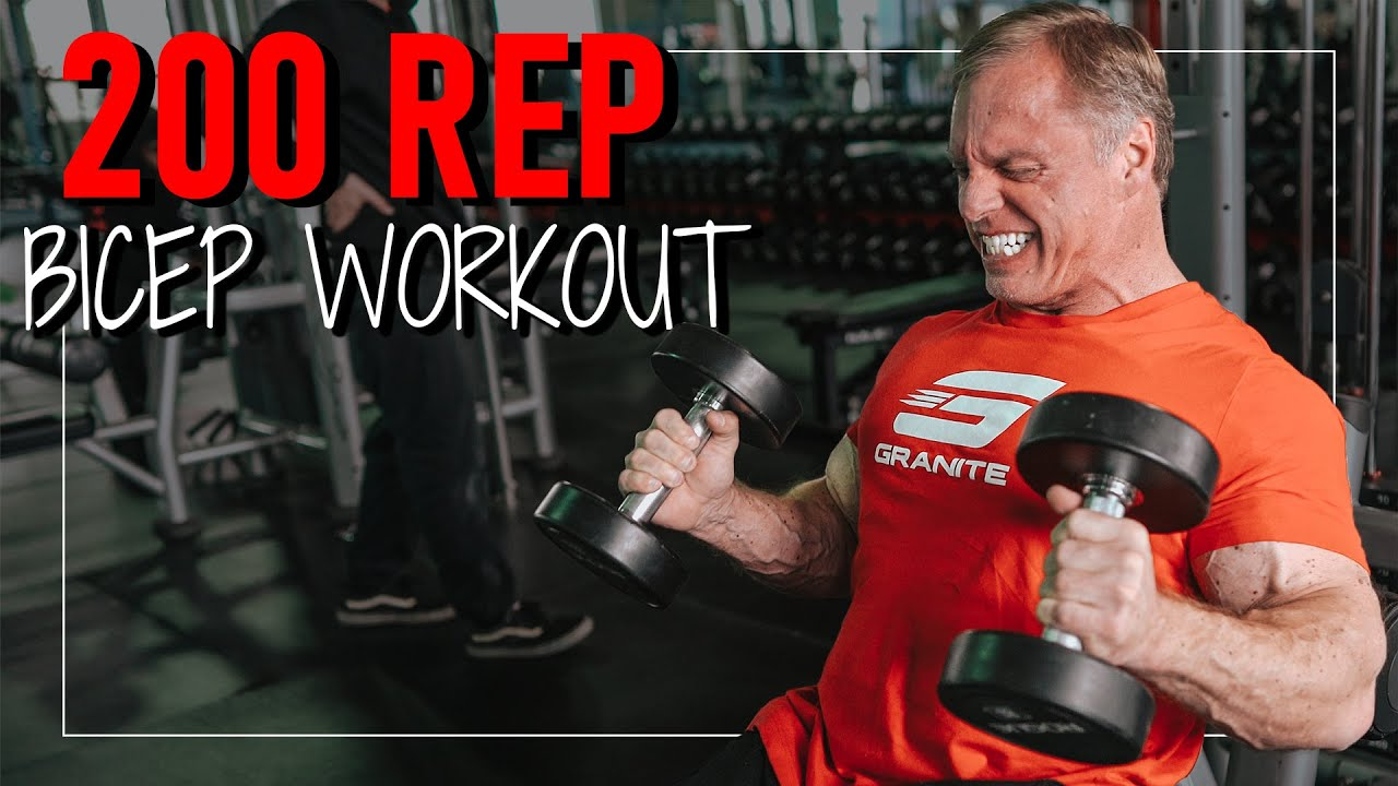 200 Rep Bicep Workout (Trigger Muscle Growth)