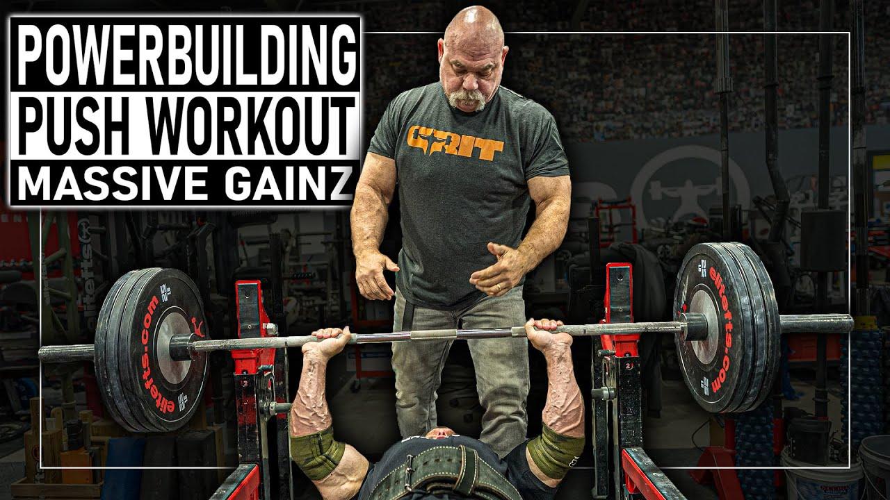Dynamic Push Workout (John Meadows & Dave Tate)